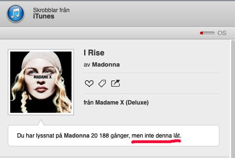 Nu börjar det likna nåt, Madonna